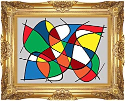 Lora Ashley Abstract canvas with Majestic Gold frame
