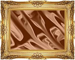 Lora Ashley Chocolate canvas with Majestic Gold frame