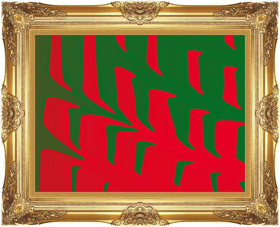 Lora Ashley Contemporary Red and Green with Majestic Gold Frame