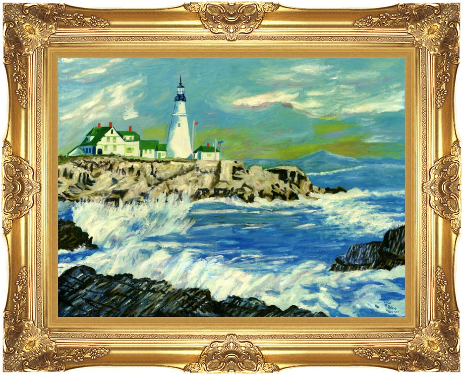 Lela Reagan The Northern Shore with Majestic Gold Frame
