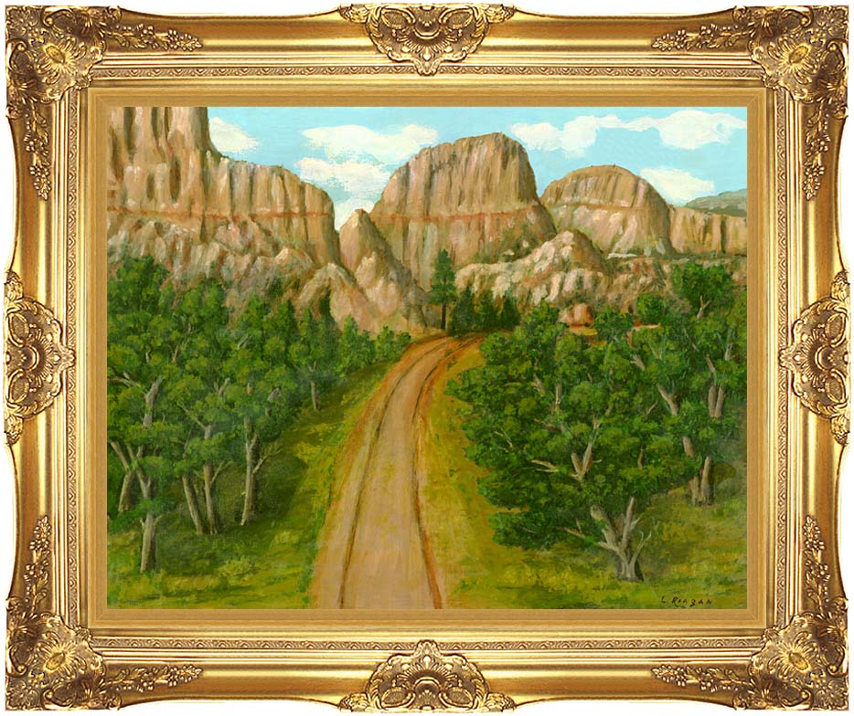 Lela Reagan The Road Home with Majestic Gold Frame