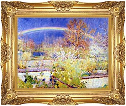 William Blair Bruce The Rainbow canvas with Majestic Gold frame