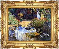 Claude Monet Le Dejeuner canvas with Majestic Gold frame