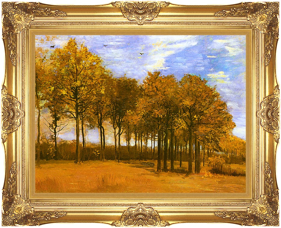 8b950bd06c32 Vincent van Gogh Autumn Landscape with Majestic Gold Frame. Framed Artwork  Dimensions
