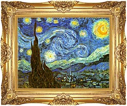 Vincent Van Gogh The Starry Night canvas with Majestic Gold frame