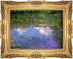 Claude Monet The Cloud canvas with Majestic Gold frame