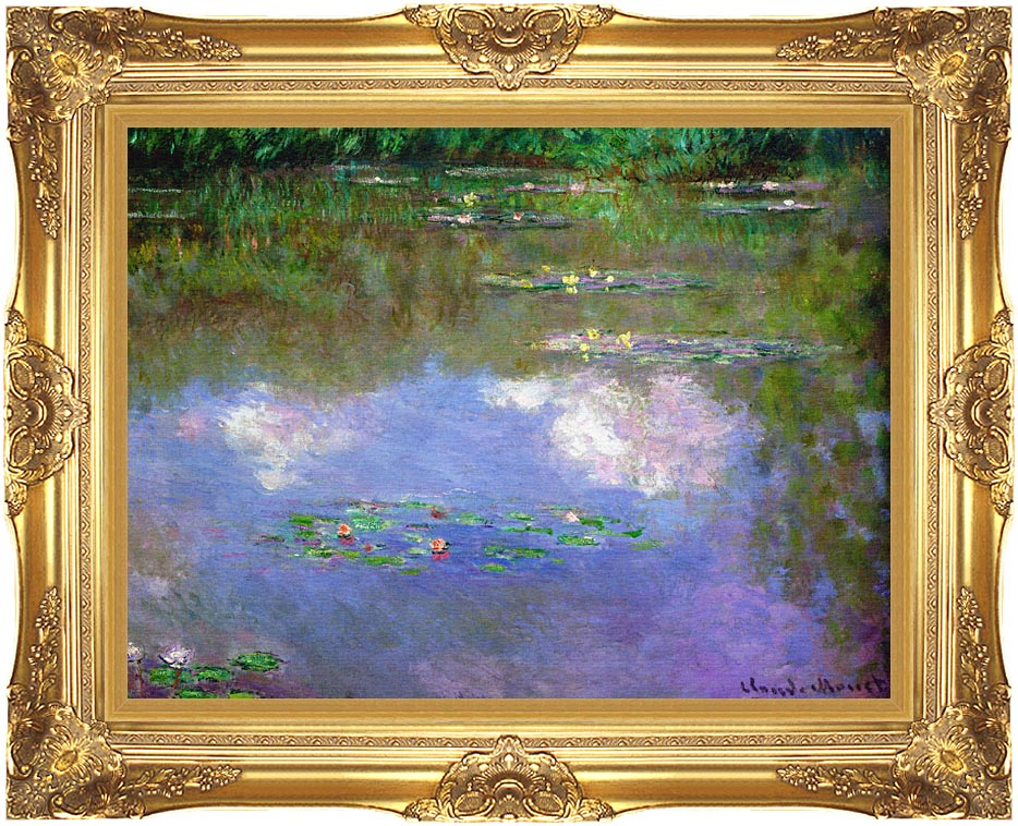 Claude Monet The Cloud with Majestic Gold Frame