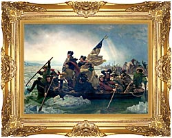 Emanuel Leutze Washington Crossing The Delaware canvas with Majestic Gold frame