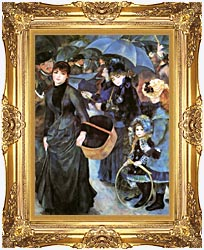Pierre Auguste Renoir The Umbrellas canvas with Majestic Gold frame