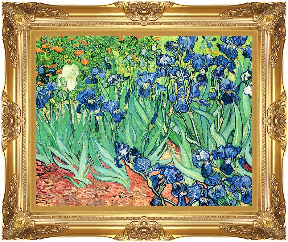 Vincent van Gogh Irises with Majestic Gold Frame