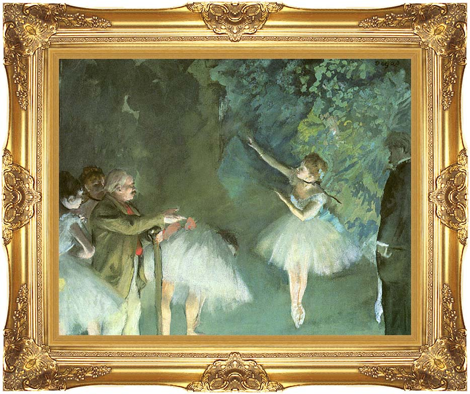 Edgar Degas Ballet Rehearsal with Majestic Gold Frame