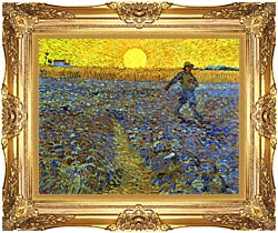 Vincent Van Gogh The Sower canvas with Majestic Gold frame