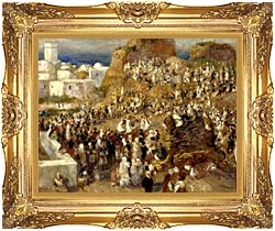 Pierre Auguste Renoir The Mosque Algiers canvas with Majestic Gold frame