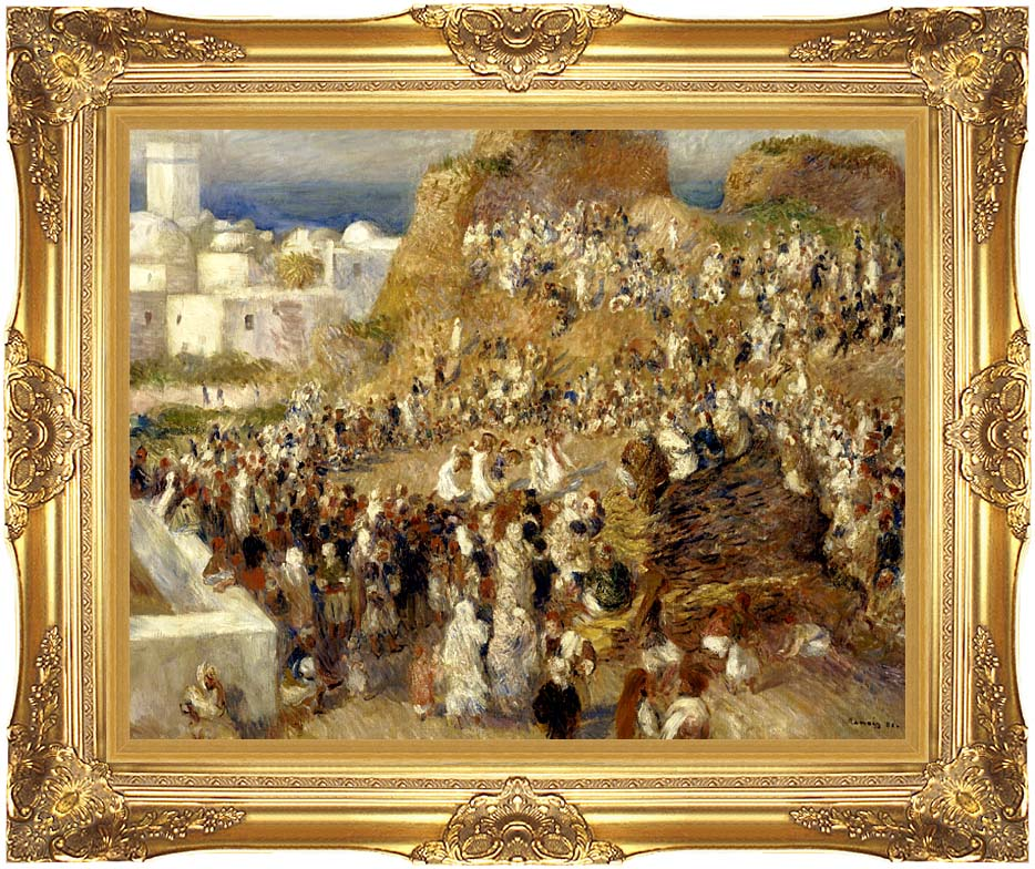 Pierre Auguste Renoir The Mosque, Algiers with Majestic Gold Frame
