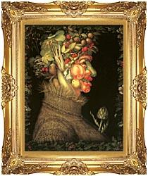 Giuseppe Arcimboldo Summer canvas with Majestic Gold frame