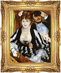 Pierre Auguste Renoir La Loge canvas with Majestic Gold frame