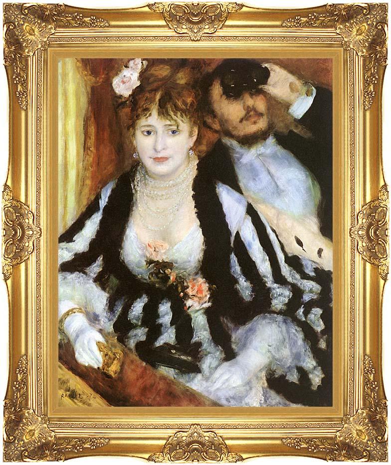 Pierre Auguste Renoir La Loge with Majestic Gold Frame