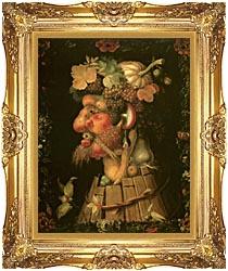 Giuseppe Arcimboldo Autumn canvas with Majestic Gold frame