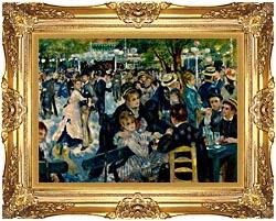 Pierre Auguste Renoir At The Moulin De La Galette canvas with Majestic Gold frame