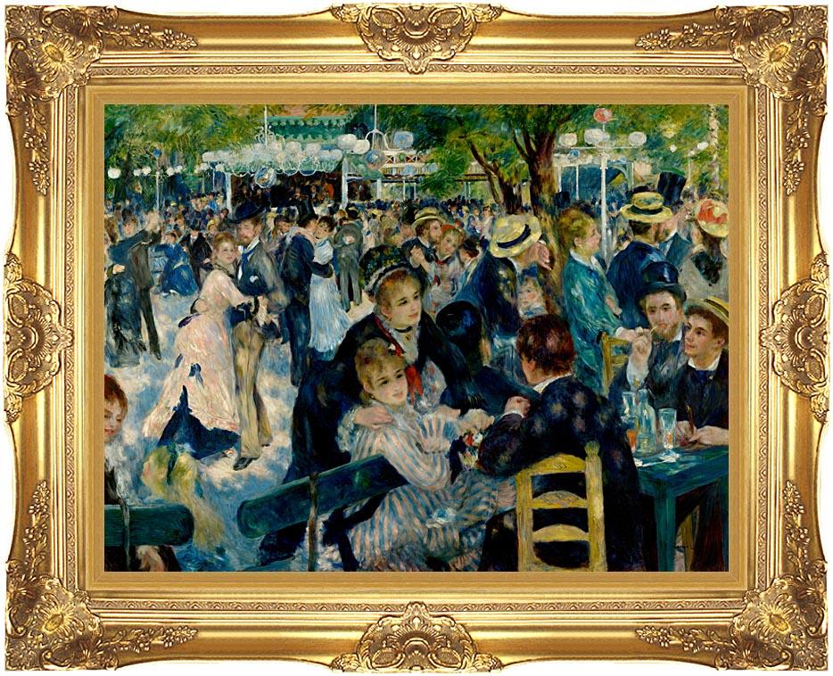 Pierre Auguste Renoir At the Moulin de la Galette with Majestic Gold Frame