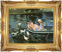 Mary Cassatt Summertime canvas with Majestic Gold frame