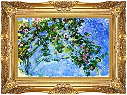 Claude Monet The Roses canvas with Majestic Gold frame