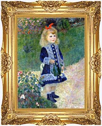 Pierre Auguste Renoir A Girl With A Watering Can canvas with Majestic Gold frame