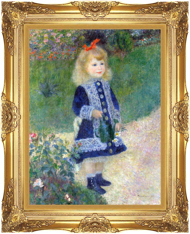 Pierre Auguste Renoir A Girl with a Watering-Can with Majestic Gold Frame
