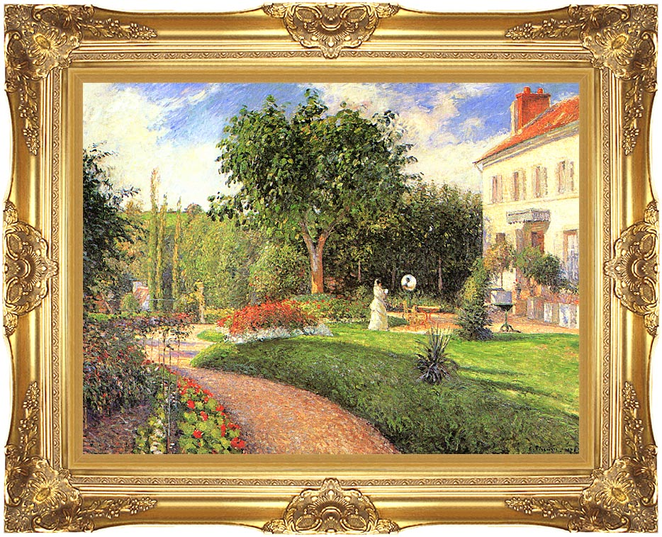 Camille Pissarro The Garden of Les Mathurins at Pontoise with Majestic Gold Frame