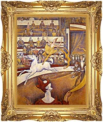 Georges Seurat The Circus canvas with Majestic Gold frame
