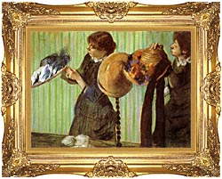 Edgar Degas Little Milliners canvas with Majestic Gold frame