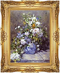 Pierre Auguste Renoir Spring Bouquet canvas with Majestic Gold frame