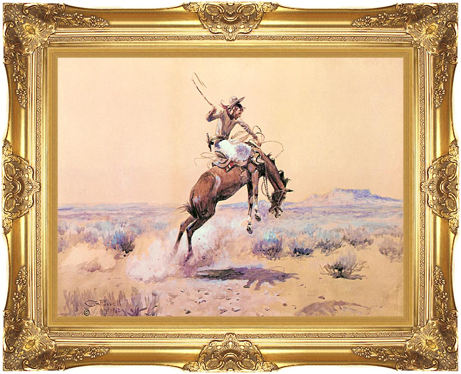 Charles Russell [Bucker] with Majestic Gold Frame
