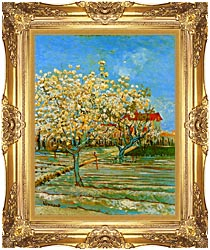 Vincent Van Gogh Orchard In Blossom canvas with Majestic Gold frame
