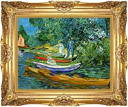 Vincent Van Gogh Bank Of The Oise At Auvers canvas with Majestic Gold frame