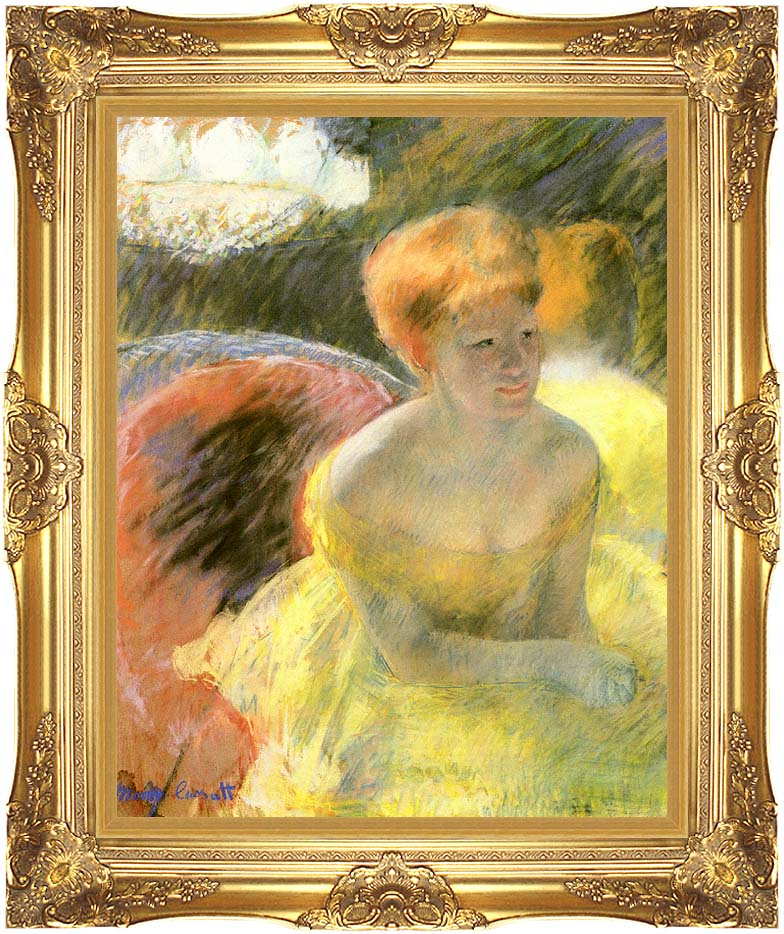 Mary Cassatt At the Theater (Woman in a Loge) with Majestic Gold Frame