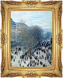 Claude Monet Boulevard Des Capucines canvas with Majestic Gold frame
