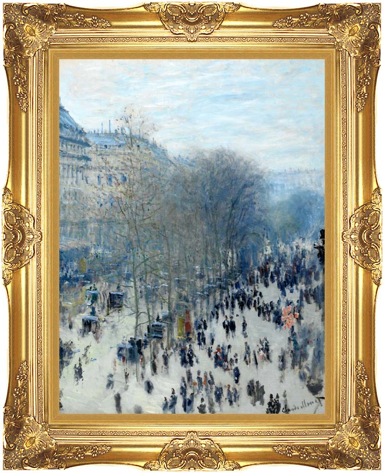 Claude Monet Boulevard des Capucines with Majestic Gold Frame