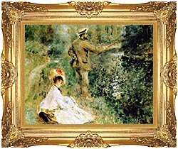 Pierre Auguste Renoir The Angler canvas with Majestic Gold frame