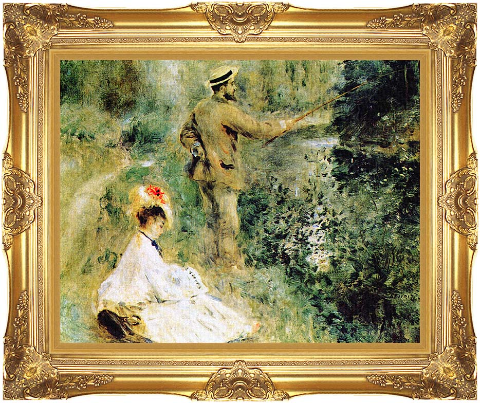 Pierre Auguste Renoir The Angler with Majestic Gold Frame