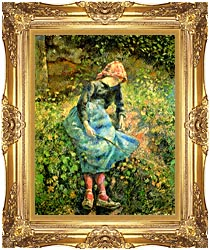 Camille Pissarro The Shepherdess canvas with Majestic Gold frame