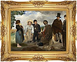 Edouard Manet The Old Musician canvas with Majestic Gold frame