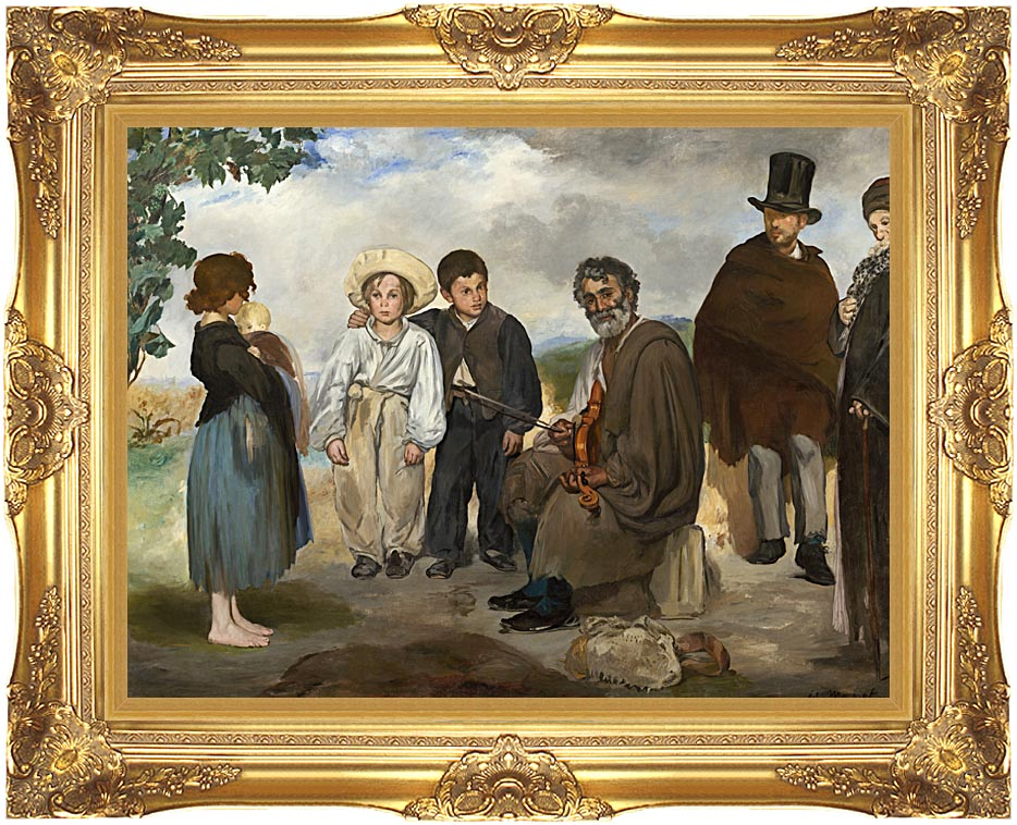 Edouard Manet The Old Musician with Majestic Gold Frame