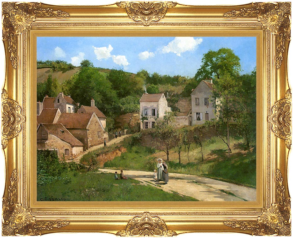 Camille Pissarro The Hermitage at Pontoise with Majestic Gold Frame