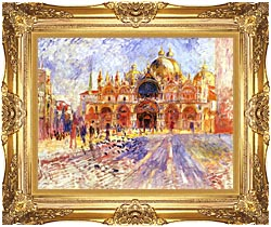 Pierre Auguste Renoir Piazza San Marco Venice canvas with Majestic Gold frame