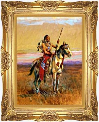 Charles Russell The Scout canvas with Majestic Gold frame