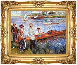 Pierre Auguste Renoir Oarsmen At Chatou canvas with Majestic Gold frame