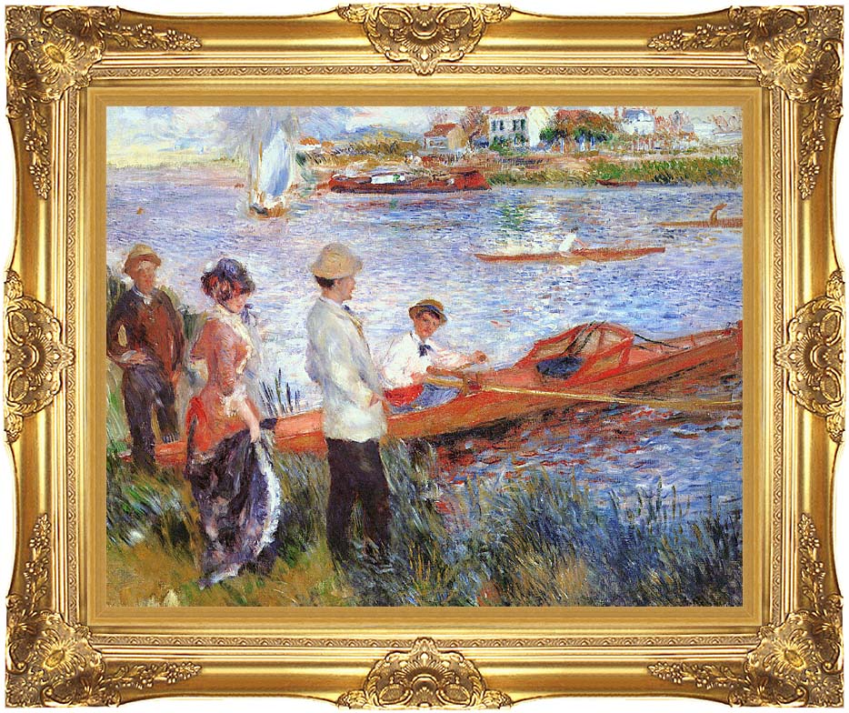 Pierre Auguste Renoir Oarsmen at Chatou with Majestic Gold Frame