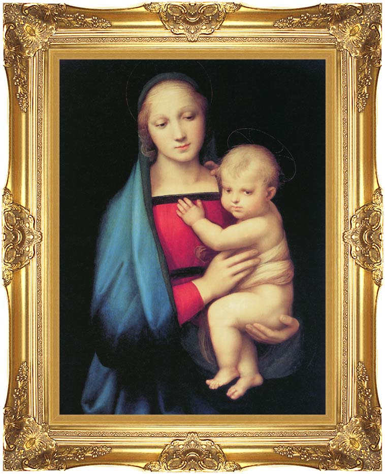 Raphael The Madonna del Granduca with Majestic Gold Frame