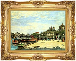 Pierre Auguste Renoir The Pont Des Arts canvas with Majestic Gold frame